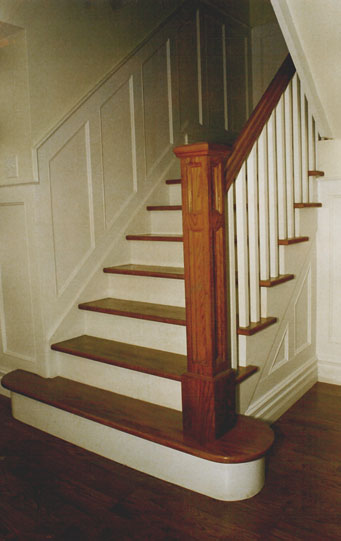 Wood stair railings on pinterest iron stair railing - How to install interior stair railings ...