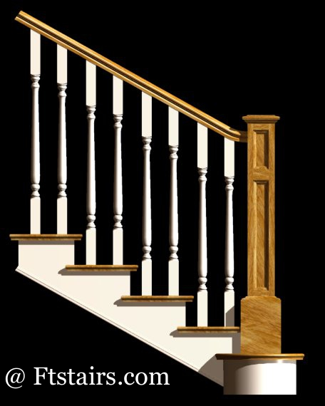 staircase railing designs. Stair and Railing shown in
